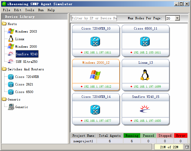 SNMP Agent Simulator 4.2 Build 4203 full